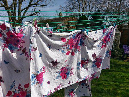 Outdoors, Laundry, Clothesline, Hanging, Color