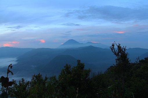Sunrise, Dawn, Morning, Mount Bromo, Java, Indonesia