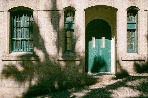 Building, House, Entrance, Window, Doorway, Old