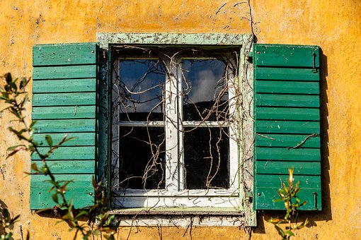 Home, Window, Wood, Old, Shutter, Leave, Architecture