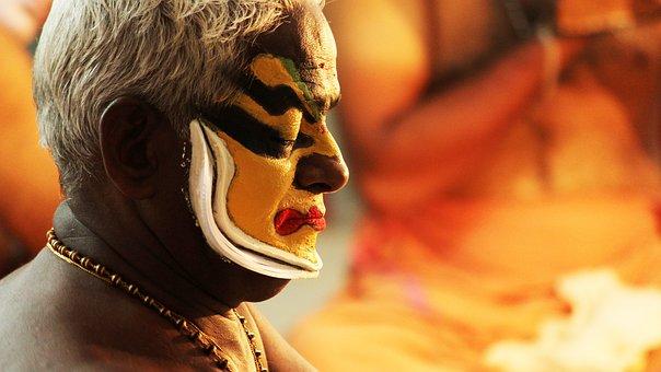 Portrait, Face, People, Man, Artist, Kerala, Kathakali