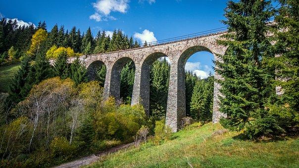 Nature, Bridge, Slovakia, Railway Bridge, Railway
