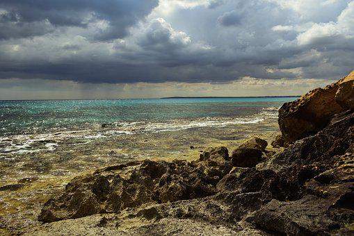 Seashore, Sea, Sky, Beach, Clouds, Nature, Rocky Coast
