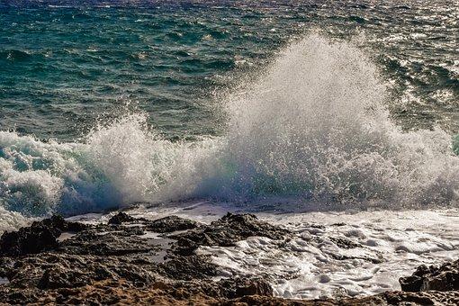 Water, Surf, Wave, Sea, Ocean, Spray, Foam, Nature