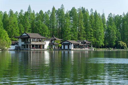 Pavilions, West Lake, Building, Small Pavilion