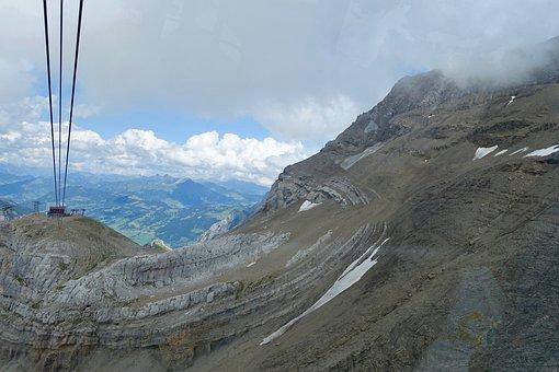 Cable Car, Alps, Mountain, Nature, Landscape, Sky