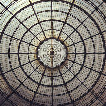 Dome, Vault, Galleries, Milan, Ceiling, Architecture