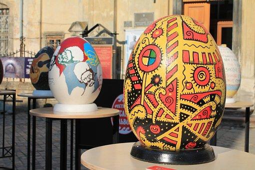 Easter Egg, Ornament, Art, Christ Is Risen