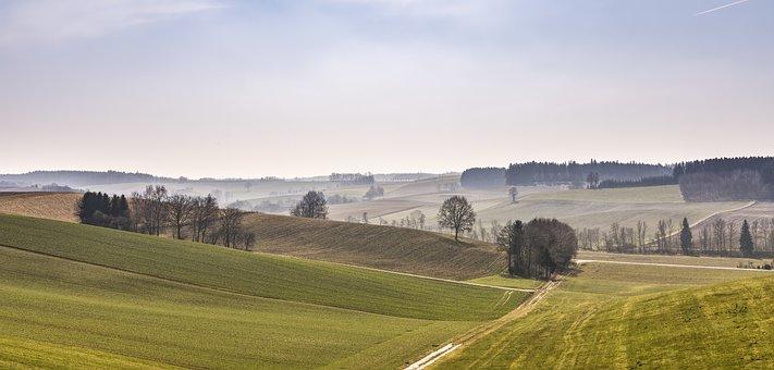 Nature, Landscape, Bavaria, Mystical, Grass, Panorama