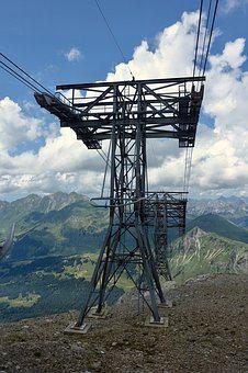 Pylon, Frame, Cable Car, Steele, Cable, Infrastructure