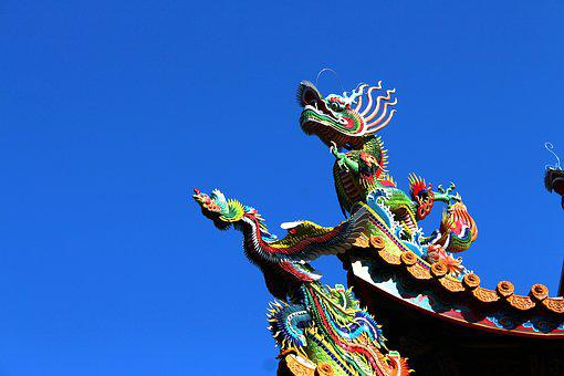 Sky, Dragon, Traditional, Culture, Taiwan, Chinese