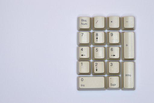 Technology, Number, Keyboard, Computer, Text, Key