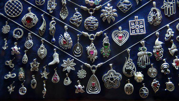 Egypt, Cairo, Khan El Kalili, Bazaar, Decoration