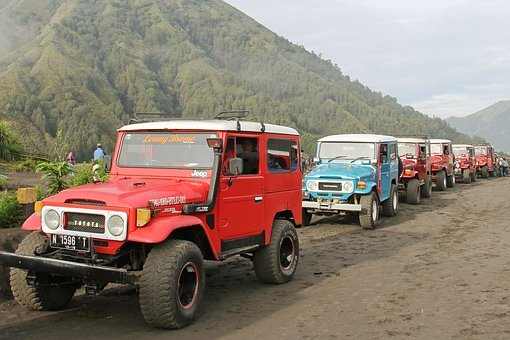 Jeep, Ride, Mount Bromo, Indonesia, Adventure, Exciting