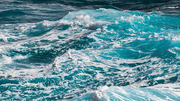 Water, Wave, Sea, Foam, Surf, Splash, Nature, Turquoise