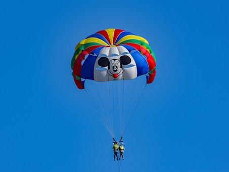 Parachute, Paragliding, Freedom, Sky, Air, Colors