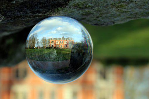Glass Ball, Ball, Glass, Castle, Architecture, Building