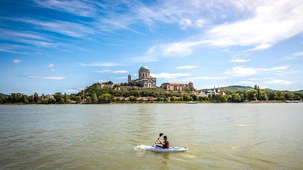 Danube, Slovakia, Hungary, Esztergom, Cathedral, River