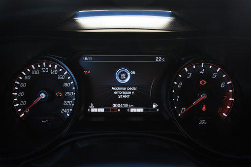 Automobile, Speedometer, Vehicle, Odometer, Indicator
