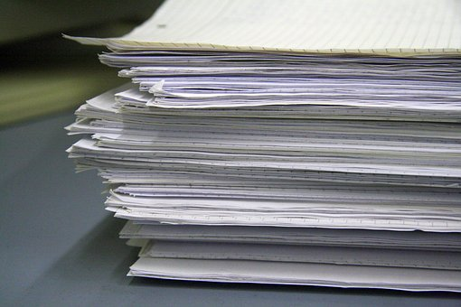 Pile, Paper, Page, List, A Pile Of Papers, Office, Leaf