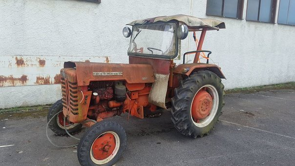 Tractor, Vehicle, Wheel, Machine, Transport System