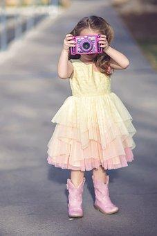 Child, Fashion, Girl, Portrait, Dress, Model, Glamour