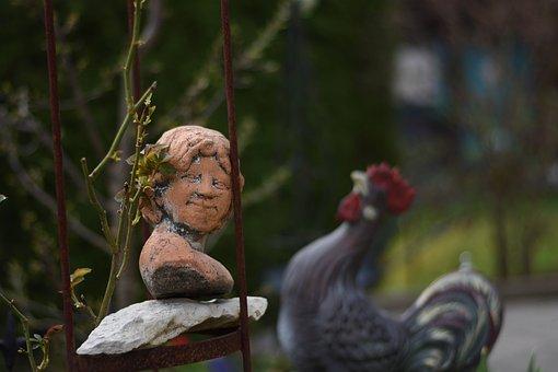 Nature, Woman, Garden, Sculpture, Spring, Human