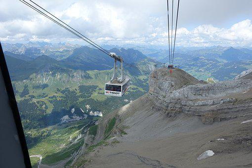 Cable Car, Mountain, Nature, Travel, Outdoors, Sky