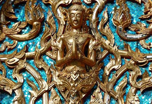 Religion, Art, Golden, Ornament, Buddha, Buddhism
