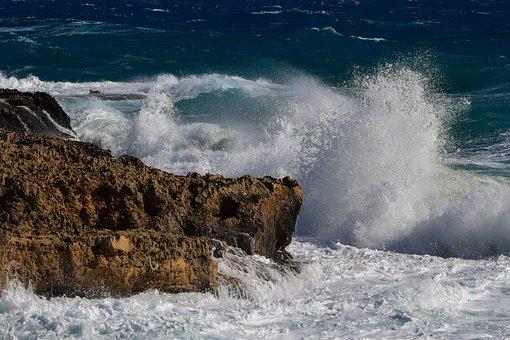 Splash, Water, Sea, Wave, Crushing, Splashing, Seashore