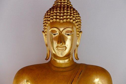 Buddha, Sculpture, Statue, Golden, Religion, Meditation
