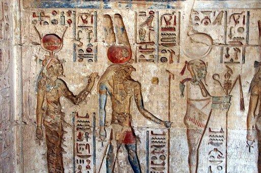 Egypt, Tomb, Deir-el-medina, Hieroglyphs, Isis, Horus