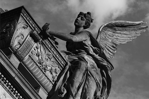Cemetery, Sculpture, Gothic, Church, Tomb, Angel
