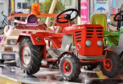 Carousel, Auto, Tractor, Children Car, Carousel Auto