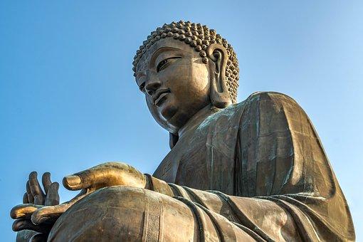 Statue, Buddha, Sculpture, Religion, Travel, Hong Kong