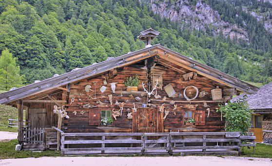 Home, Wood, Woods, Bungalow, Nature, Mountain, Travel