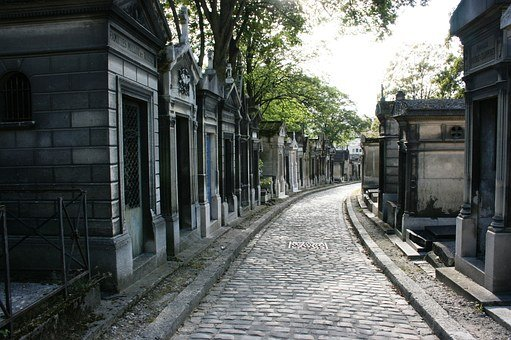 Cemetery, Tombs, Pere Lachaise, Paris