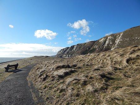 White Cliffs Of Dover, England, Uk, Sea, Chalk, English