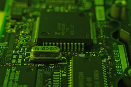 Circuitry, Microchip, Close-up, Circuit, Electronic