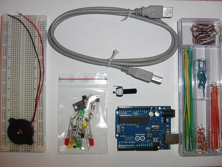 Kit, Computer, Arduino, Board, Chip, Circuits