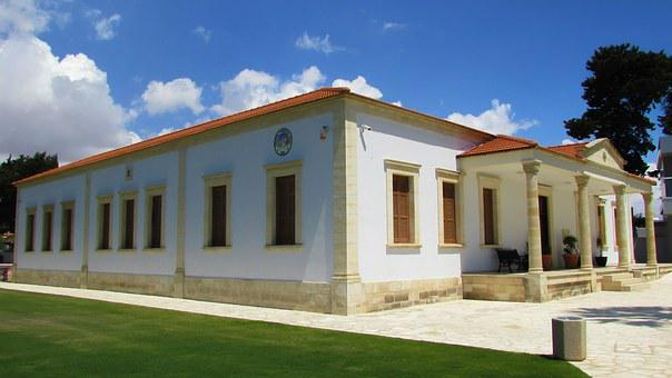 Cyprus, Kiti, Community Hall, Architecture, Neoclassic