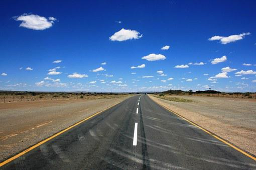 Road Ahead, Desert, Never Ending Road, Landscape