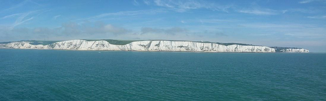 Chalk Cliffs, Dover, Coast, Panorama, England