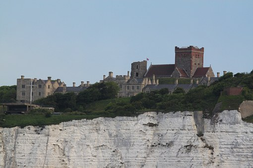 Dover, White Cliffs, Dover Castle, United Kingdom