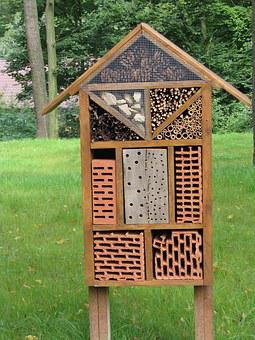 Insect House, Bug Hotel, Cracow Zoo, Wooden, Ecology