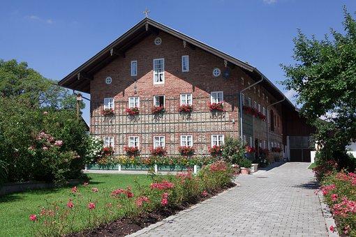 Farmhouse, Estate, Bavaria, Upper Bavaria, Old, Rustic