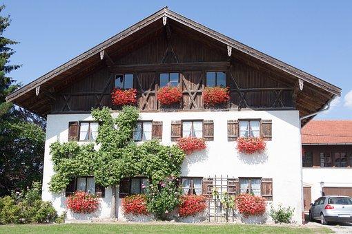 Farmhouse, Bavaria, Upper Bavaria, Old, Rustic, Wood