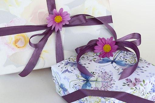 Gifts, Loop, Satin Ribbon, Wrapping Paper, Made, Gift