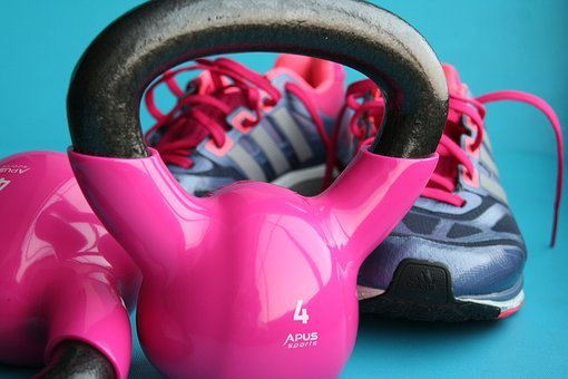 Fitness, Gym, Kettlebells, Weights, Exercise