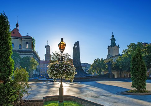 Lviv, Center, Ukraine, Landscape, Baroque, Style